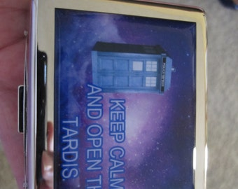 Keep Calm and Open The Tardis  8 Day Pill Box With Mirror
