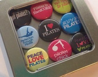 Pilates Magnet Set / Refrigerator Magnets / Locker Magnets / Ready for Gift Giving