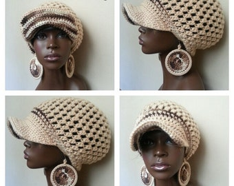 Divine Being Crochet Tam and Earrings