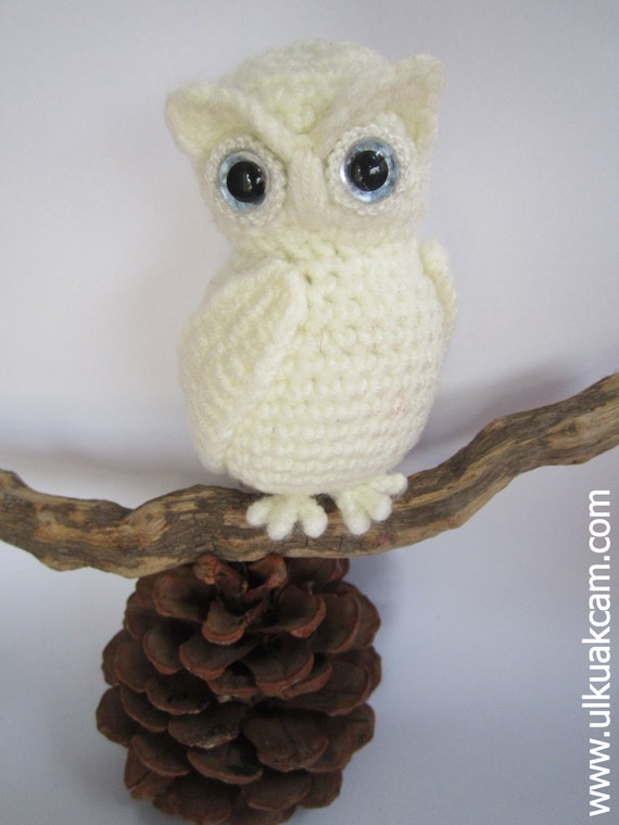 Crochet Pattern For Pikachu Doll : Amigurumi Snowy Owl Pattern from Denizmum on Etsy Studio
