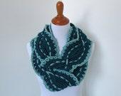Crochet Scarf Pattern: Sound Wave Infinity Scarf