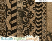 Chic Burlap Backgrounds Instant Download -High Res-Digital Textures -12x12 Chic Burlap