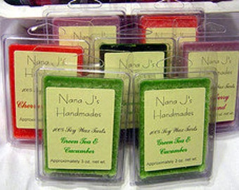 soy wax melt-soy melt- triple scented-clamshell.  Rainforest.  Made by Nana J's Handmades
