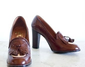 Vintage 70's Totar Stacked Heels / Women's Size 7.5 M / Made in Spain / NOS