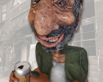 Ecce Homo (aka: Calvin), original mixed-media sculpture by Jett Vincent Bailey