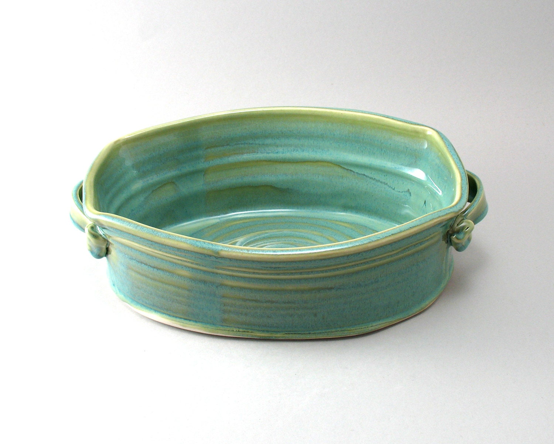 Ceramic Stoneware Baking : Stoneware casserole pottery baking dish serving