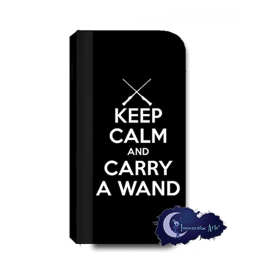 Keep Calm and Carry A Wand Wallet Case for iPhone