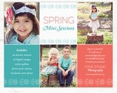 Spring Mini Session Template, Multipurpose Marketing Board INSTANT DOWNLOAD
