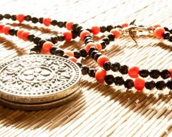 Garden Locket and Sparrow Necklace