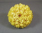 Vintage Yellow Marigold Plastic Flower Brooch
