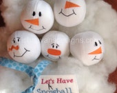 Set of Six Fleece Snowballs for Indoor Fun!