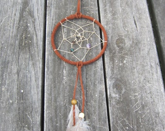 Dream Catcher 6in with amethyst, onyx, Tiger eye, and more