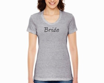 Bride American Apparel Ladies Wedding Shirt