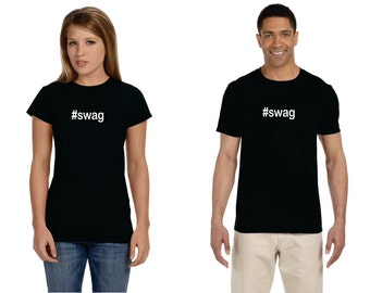 Hashtag Swag #swag Adult Birthday Shirt
