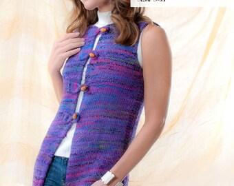 Women's Knit Tunic Length Vest - Digital Pattern - Sized S-5X