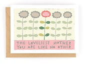The Loveliest Mother - Greeting Card (2-77C)