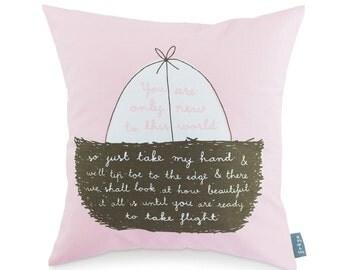 New To This World (Pink) - Cushion (CUSH2)