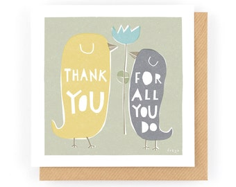 Thank you for all you do - Greeting Card (1-119C)