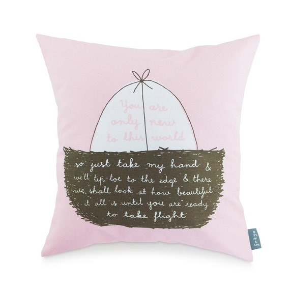 New To This World (Pink) - Cushion (CUSH2)