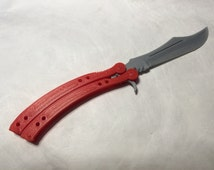 3D Printed Curved Butterfly Knife