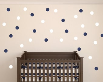 "Polka Dot Wall Decals - 2 Colors - 3"" Polka Dots - Circle Wall Stickers - Kid Polka Dot Decals"