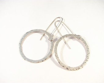 Forged Circle Earrings