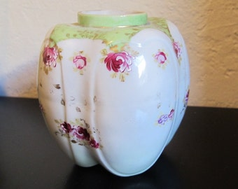 Antique Porcelain Floral Vase