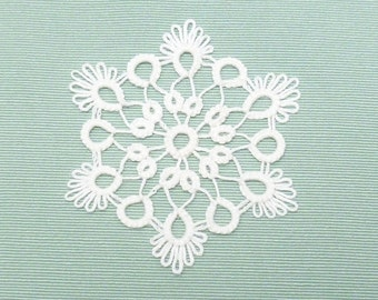 Tatted Lace Christmas Ornament Snowflake -Glow Flake -MTO many color options