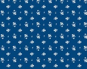 "Riley Blake Designs ""Enchant"" 100% cotton fabric by the half yard navy"
