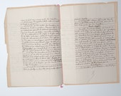 French antique handwritten notary act from 1903 (6 pages)