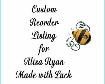 Custom Reorder Listing for Alisa Ryan .75 x 2 White Precut