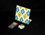 Fabric Magnetic Memory Board - Carnival Sunshine Fabric - 6 x 6 Freestanding