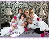 Bridesmaid Shirts, Monogrammed Bridesmaid Gift, Personalized Bridal Party Shirts set of 7