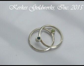 Silver rings discount - Set of Ten Javanese Flora Beaded Rings