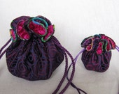Brushed Brocade Jewelry Bag Set - Luxury and Mini Size - Totes - NORTHERN LIGHTS