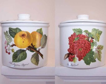 Portmeirion Pomona, ONE Jam Jar, Jelly Jar, With Lid, The Red Currant, The Ingestrie Pippin, Yellow Apple, Vintage