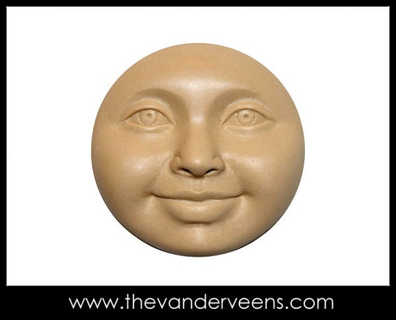 Mold No.111 (Flater Full moon Face with open eyes) by Veronica