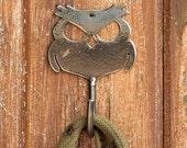 Wisecracker Outlaw Owl Handmade Metal Wall Hook  - by WATTO Distinctive Metal Wear / Key Hook /Dog Leash Hook