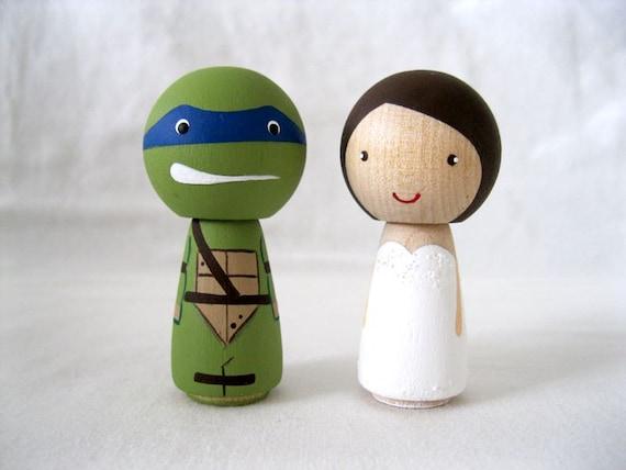 Teenage Mutant Ninja Turtle and his Bride TMNT Kokeshi Doll