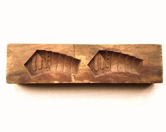 Vintage Japanese Kashigata - Wood Mold - Cake Mold - Japanese Cake Mold - Japanese Mold Bamboo Takenoko