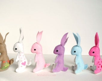 Felt Stuffed Animal Bunny Rabbit *Made To Order* Cute Mini Felt Bunny Toy or Ornament