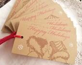 Christmas Tags Eskimo Kisses Snowflakes Holiday Gift Tags Snowflakes Set of 15