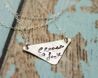 Choose Joy Necklace in Sterling Silver