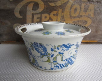 Vintage Turi Design Lotte Mid Century Mod Figgjo Flint Norway Casserole with Lid