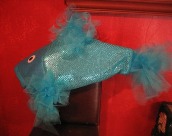 Turquoise Beta Fish Costume-one size fits all