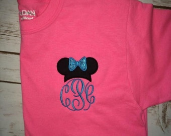 Minnie Mouse Disney initial shirt