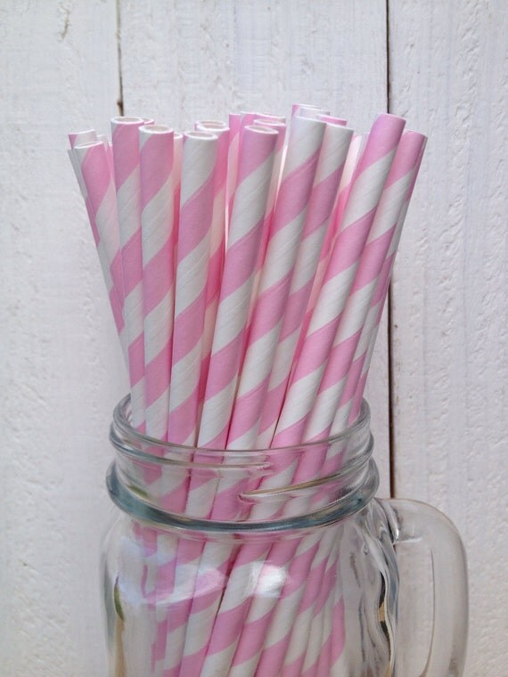 pink and white paper straws Stripes paper straws party decor stars party party planning paper decoration  decor straws straw paper straws black pink gold golden.