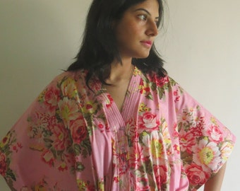 Pink dream - Nursing Kaftan - Perfect as loungewear, as beachwear, gift for moms and to be moms and more