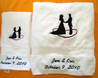 Bride and Groom towel set