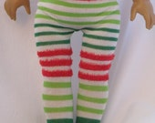 AMERICAN GIRL DOLL Tights: Christmas Striped Tights